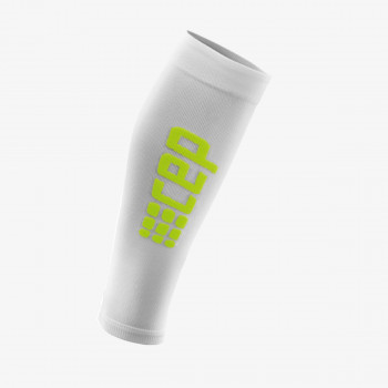 CEP Čarape Pro ultralight calf sleeves white/green