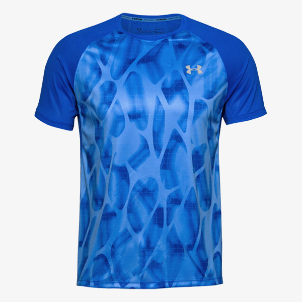 UNDER ARMOUR Majica M UA Qualifier ISO-CHILL Printed Short S