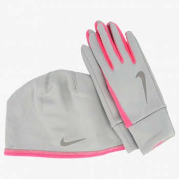 JR NIKE Set WOMEN'S NIKE RUN THERMAL HAT AND GLOVE S